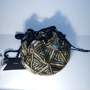 Beautiful Zara Sequined Buck Bag Purse